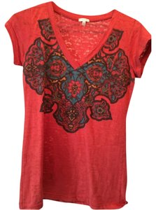 Maurices T Shirt Burnt red orange