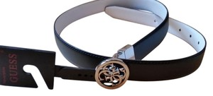 Guess Guess Black Faux Leather Belt