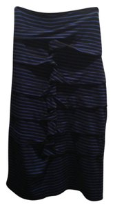 Nicole Miller Pencil Skirt Black and Blue