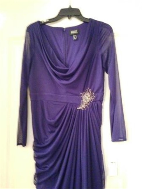 Adrianna Papell Elegant Evening Mother Of The Bride Brooch Accent Dress