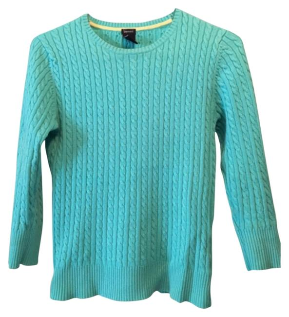 Preload https://item3.tradesy.com/images/gap-turquoise-cable-knit-sweaterpullover-size-6-s-12001162-0-1.jpg?width=400&height=650
