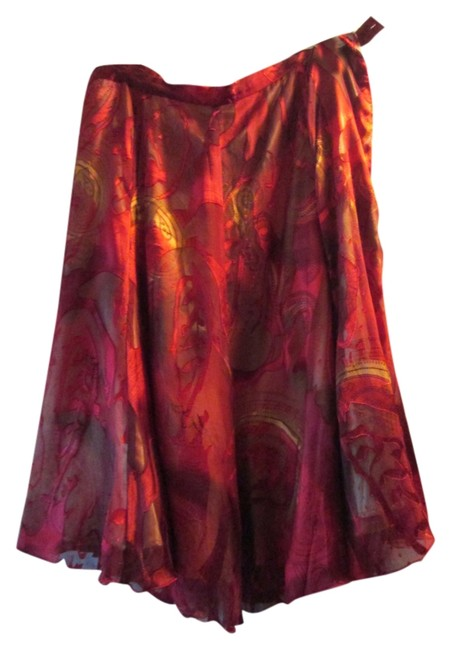 Item - Red and Black with Gold Lining V#m1098/373489 Skirt Size 16 (XL, Plus 0x)
