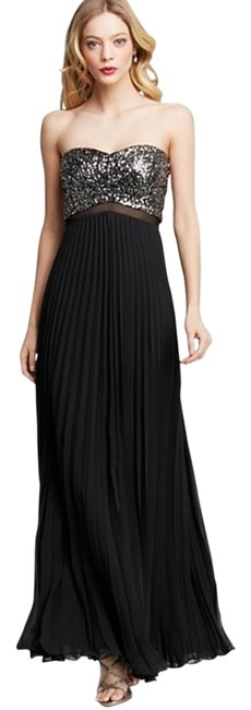 Preload https://item1.tradesy.com/images/aqua-black-and-silver-strapless-sequin-bodice-long-formal-dress-size-6-s-12001405-0-1.jpg?width=400&height=650