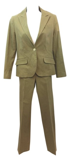 Preload https://img-static.tradesy.com/item/12001600/theory-olive-green-stretchy-cotton-blend-pant-suit-size-8-m-0-2-650-650.jpg