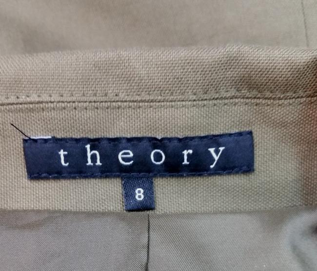 Theory THEORY OLIVE GREEN STRETCHY COTTON BLEND PANT SUIT 8