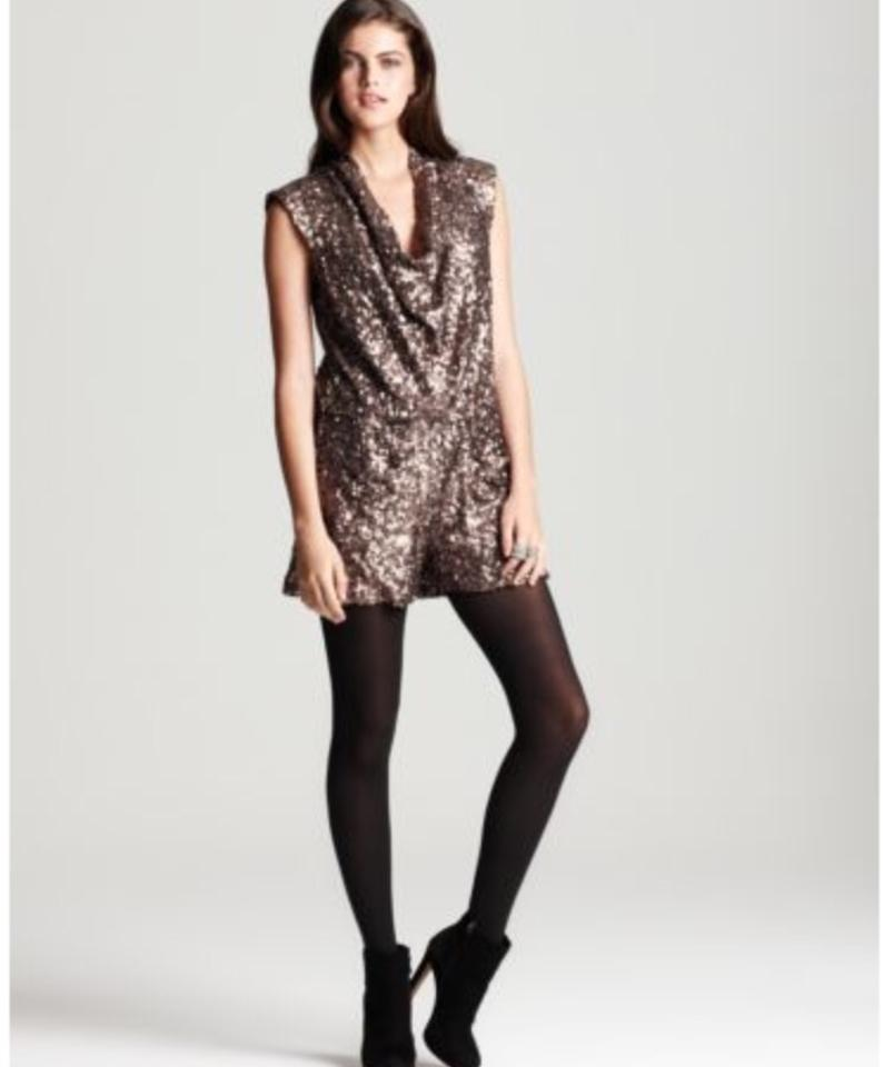 325dd2df73b French Connection Bronze Gold Lucinda Sequin Playsuit Romper ...