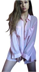 DKNY Button Down Shirt Pink