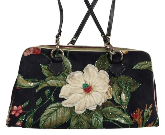 Isabella Fiore Embroidered and Beaded Large Shoulder Bag Isabella Fiore Embroidered and Beaded Large Shoulder Bag Image 1