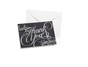 Black/White Chalkboard Style Inspired Thank You Cards Thank You Cards For Wedding Party Quality Chalkboard Style Thank You Cards