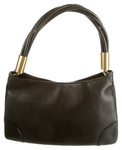 Gucci Leather Gold Hardware Shoulder Bag