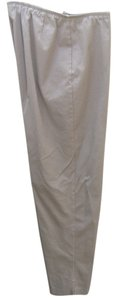 Eileen Fisher Ankle Slit Slim Straight Pants Beige