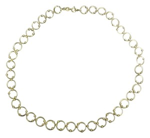 Other Sterling Silver 925 Circle & Ball Link Chain Necklace