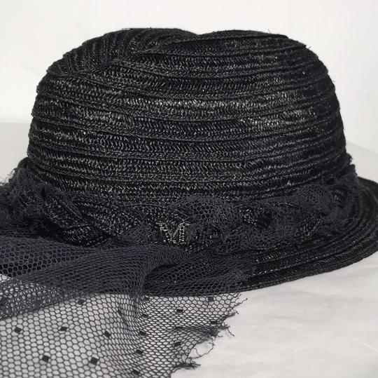 Maison Michel PRICE REDUCED! Maison Michel black lace veiled trilby straw hat