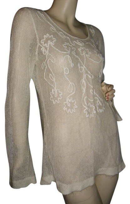 Preload https://item5.tradesy.com/images/carole-little-beige-and-white-w-scrolled-yarn-embroidery-luxury-fabric-tunic-mini-fashionista-style--12003199-0-1.jpg?width=400&height=650