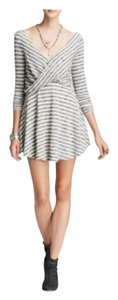 Free People short dress Cream Striped Surplice on Tradesy