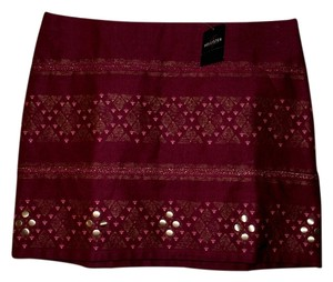 Hollister Mini Skirt Burgundy