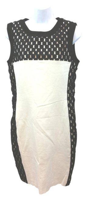 Preload https://item3.tradesy.com/images/taylor-black-and-white-sheath-knee-length-workoffice-dress-size-8-m-12003307-0-2.jpg?width=400&height=650