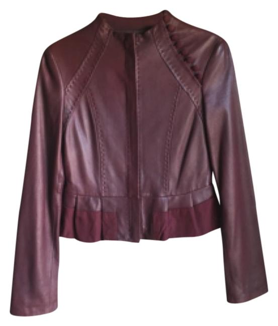 BCBGMAXAZRIA Purple Leather Jacket