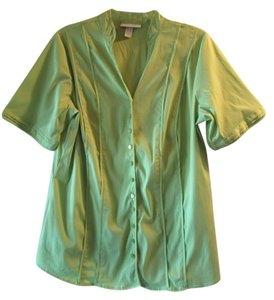 dressbarn womans Button Down Shirt green