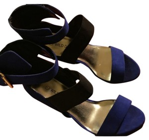 Wild Diva Deep blue Platforms