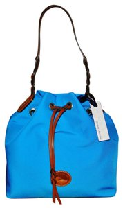 Dooney & Bourke Nylon Drawstring Blue Shoulder Bag