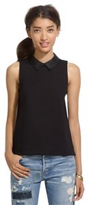 Madewell Going Out Collared Collared Top Black