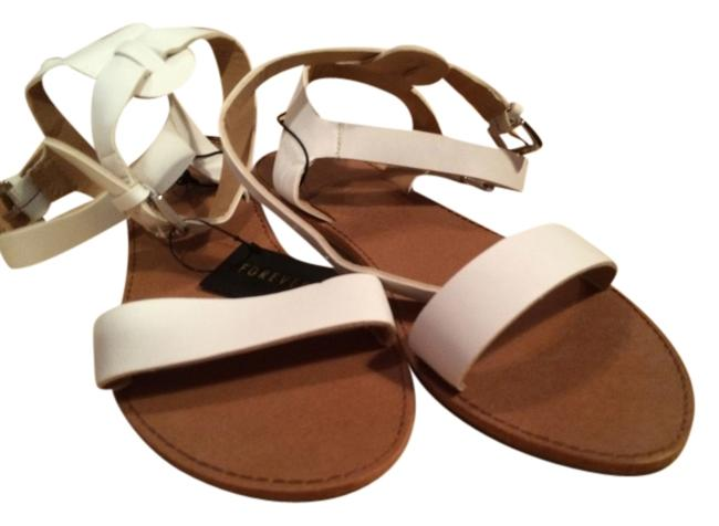 Item - Tan/White White/Tan Ankle Strap Flats Size US 7.5 Regular (M, B)