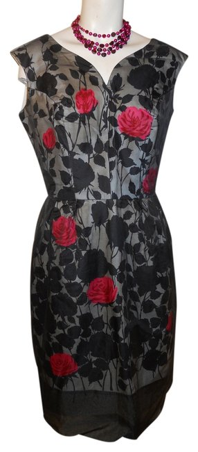Preload https://item1.tradesy.com/images/black-white-red-and-pink-vintage-mid-length-cocktail-dress-size-8-m-12005095-0-1.jpg?width=400&height=650