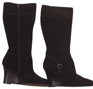 Ann Taylor geniune suede wedge boot Boots