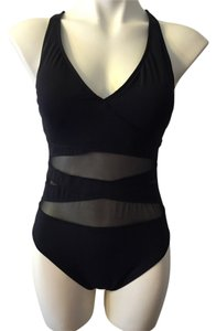 Bleu Rod Beattie Sexy black one piece with sheer cut outs