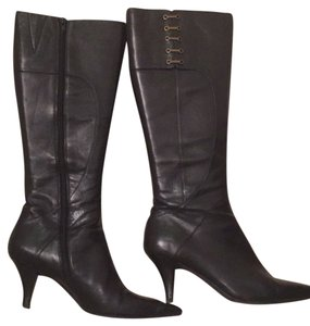Black leather Ninewest Boot Blac Boots