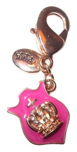 Juicy Couture Juicy Couture pink crown pendant charm. So cute!