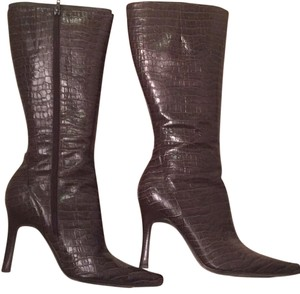 Brown snake ninewest boot Brown Boots