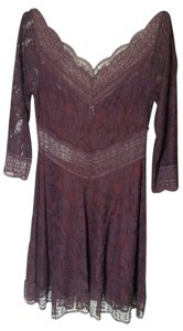 Free People short dress Burgundy Lace on Tradesy