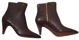 Brown leather ninwest bootie Brown Boots