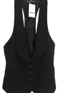 Express Ve Vest Button Down Shirt Black