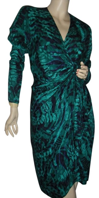 Preload https://img-static.tradesy.com/item/12005752/green-and-black-silk-wrap-animal-print-wrap-mid-length-cocktail-dress-size-6-s-0-1-650-650.jpg