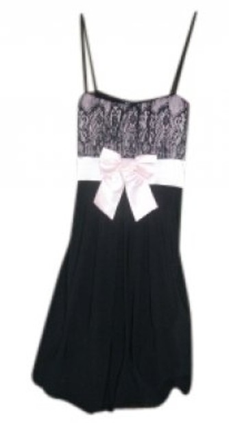 Item - Black and Pink Cute Fun Above Knee Formal Dress Size 16 (XL, Plus 0x)