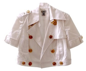 Cache Cotton Oversized Buttons White Jacket