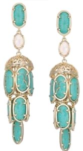 Kendra Scott Kendra Scott Terry Blue Marine Magnesite Chandelier Earrings