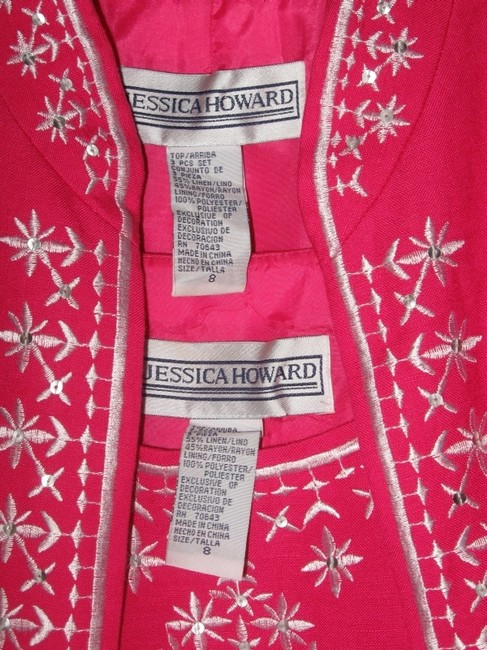 Jessica Howard Top Pink with White Embroidery