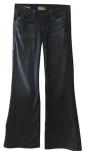 William Rast The Buckle Dark Wash Denim Trouser/Wide Leg Jeans