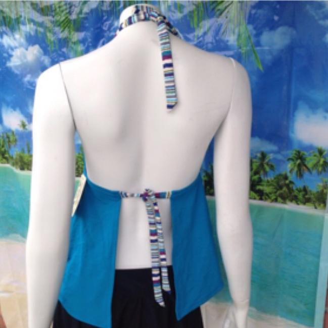 Lucky Brand NEW LUCKY BRAND Mumbai magic tankini halter swim top teal green M