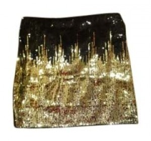 Divided by H&M Mini Skirt Black, white, gold