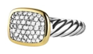 David Yurman Noblesse Ring With Diamonds With Gold