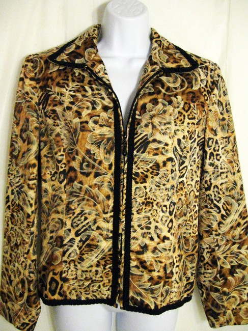 Preload https://img-static.tradesy.com/item/12007063/giancarlo-ferrari-beige-brown-black-animal-print-zip-front-spring-jacket-size-10-m-0-0-650-650.jpg