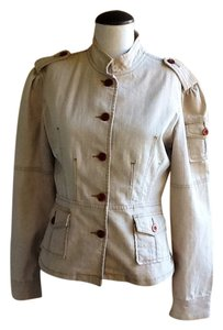 YMI Jeans Steampunk Jacket Military Jacket Khaki Jacket Steam Punk Steampunk Button Down Shirt Beige