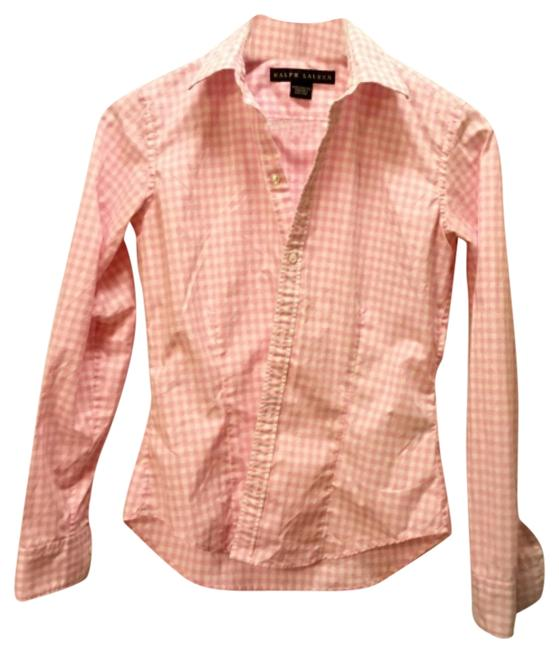 Preload https://item2.tradesy.com/images/ralph-lauren-black-label-pink-and-white-check-shirt-button-down-top-size-4-s-12007711-0-1.jpg?width=400&height=650