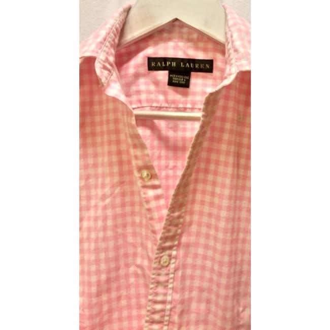 Ralph Lauren Black Label Button Down Shirt Pink and white check