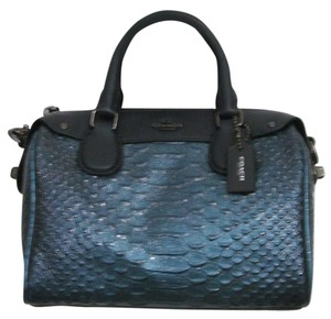 Coach New With Tag Satchel in metallic blue